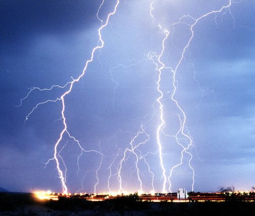 Lightning is 5 times hotter than the sun.