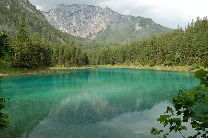 Green Lake in Styria is a Popular Hiking Spot